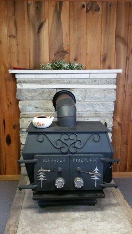 Wood Stove in the Staff Lodge