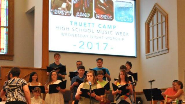 High School Music Week performing at Truett baptist Church for Midweek Service